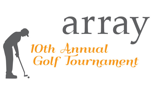 Logo for Array's 10th Annual Golf Tournament